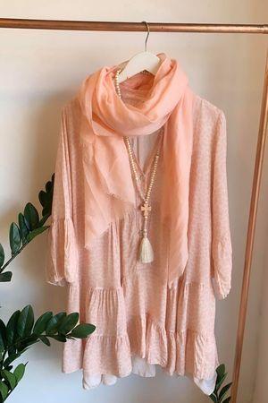 Animal Flare Dress Powder Pink