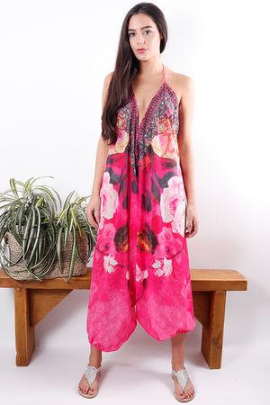 Arabian Nights Jumpsuit Fuchsia