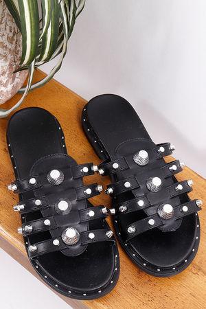 Bally Stud Sandal Black
