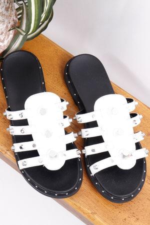 Bally Stud Sandal White