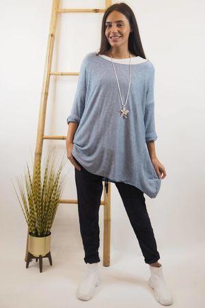 Basic A Line Fine Knit Denim