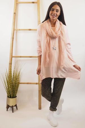 Basic A Line Fine Knit Rosewater