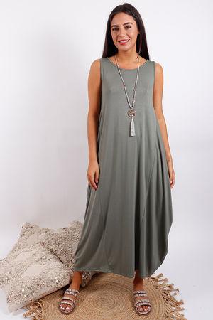 Basic Base Dress Khaki