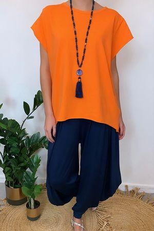 Basic Cap Sleeve Hi Low Papaya