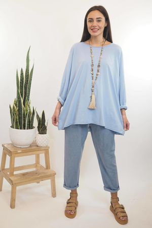 Basic Long Sleeve Top Bluebell