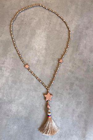 Beaded Star & Tassel Necklace