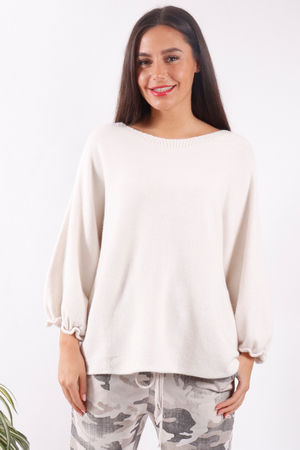 Bell Sleeve Knit Cream