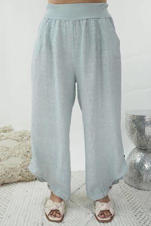 Benji B Lux Linen Pant Dove