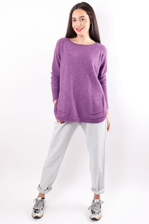 Benji Button Side Knit Ultra Violet