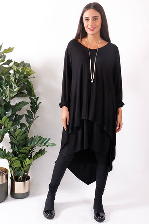 Bergen Asymmetric Two Layer Top Black
