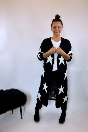 The All Star Longline Cardigan Black