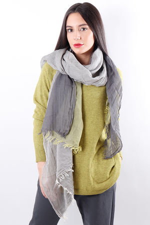 Block Colour Raw Edge Scarf
