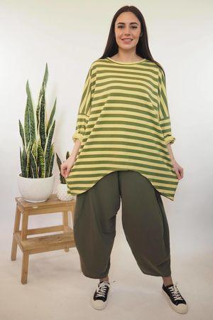 Block Stripe Archie Sweat Bamboo