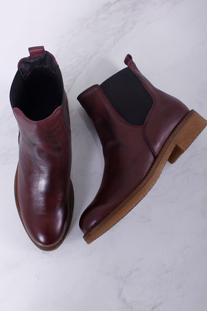 Bordeaux Chunky Chelsea Boot