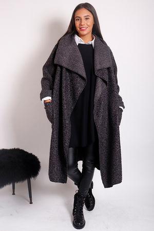 Boucle Blanket Coat Graphite