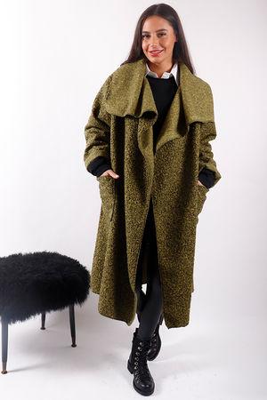Boucle Blanket Coat Lime