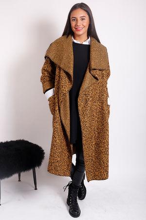Boucle Blanket Coat Mustard