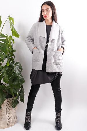 Boucle Box Jacket Dove Grey
