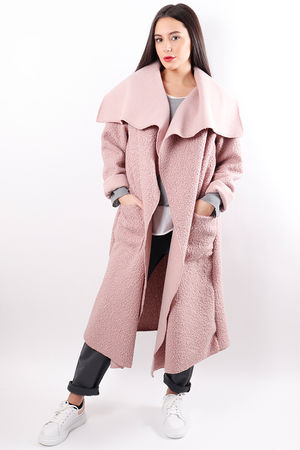 Boucle Duster Coat Pink
