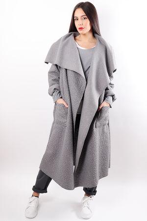 Boucle Duster Coat Slate
