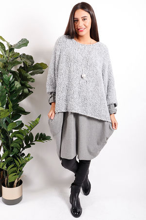 Boucle Slouch Knit Dove