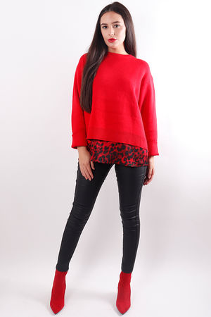 Box Knit Red