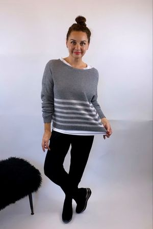 The Charli Breton Shortie Knit Slate**