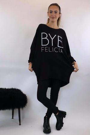Bye Felicia Popoon Tunic Black