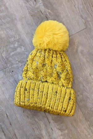 Cable Bobby Hat Ochre