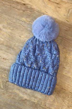 Cable Bobby Hat Powder Blue
