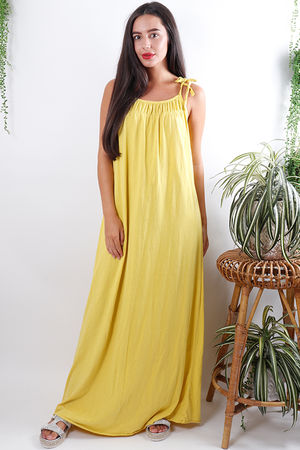 Calabasas Tie Shoulder Maxi Sunshine