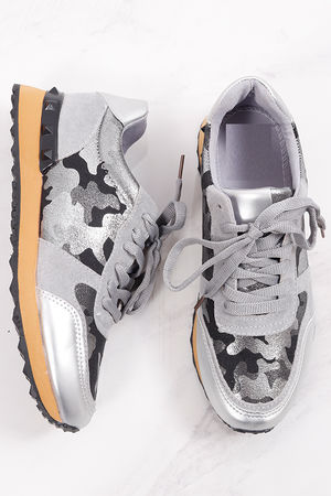 Camo Val Trainers Pewter