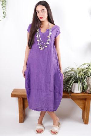 Cap Sleeve Shift Dress Ultra Violet