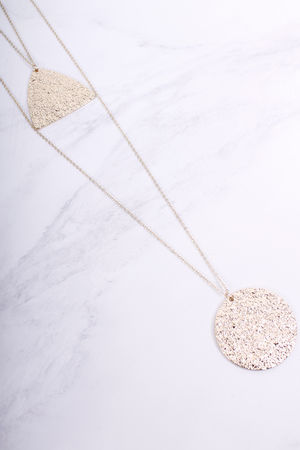 Carmen Textured Two Row Necklace Gold