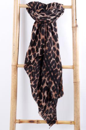 Chunky Leopard Scarf