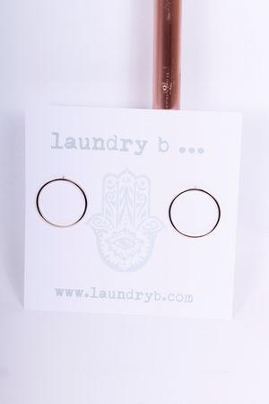 Circle Earrings Gold