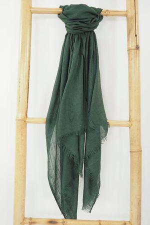 Classic Portobello Scarf Deep Emerald