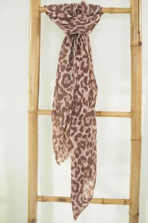 Classic Leopard Soft Touch Scarf Dirty Lilac