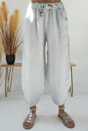 Classic Linen Cocoon Pant Dove