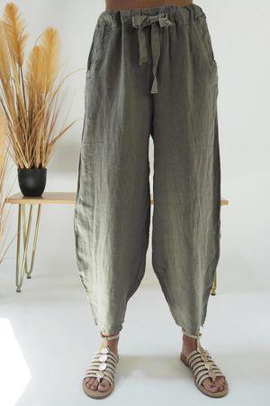 Classic Linen Cocoon Pant Mocha
