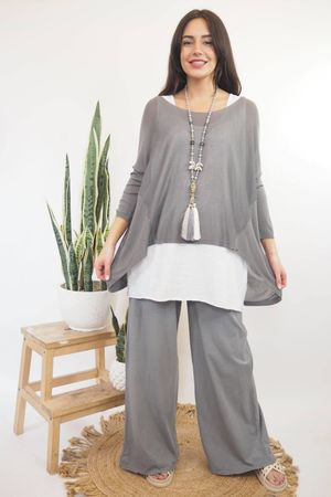 Classic Lux Fine Knit Steel