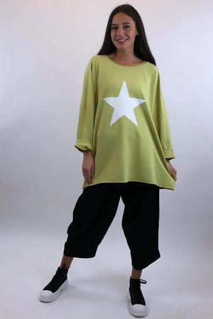 Classic Paint Star Sweat Bamboo