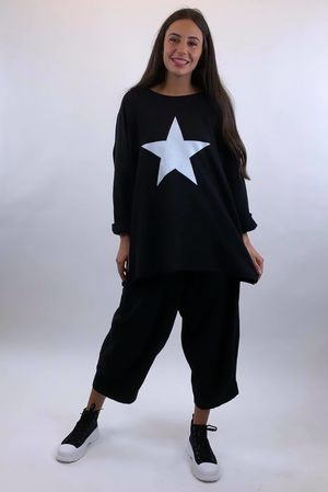 Classic Paint Star Sweat Black