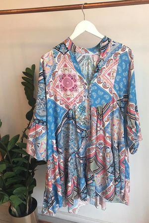 Coachella Tile Flare Dress