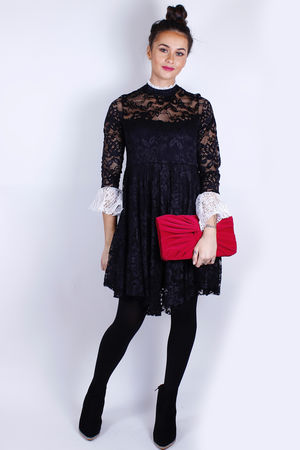 CoCo Monochrome Lace Dress