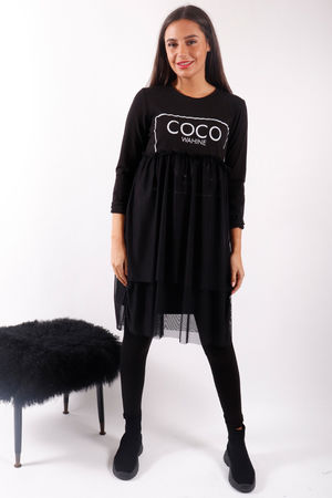 CoCo Nuts Mesh Dress Black