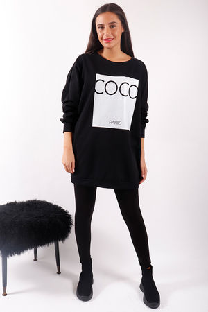 CoCo Paris Sweat Black