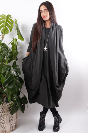 Cocoon Jersey Cardigan Slate
