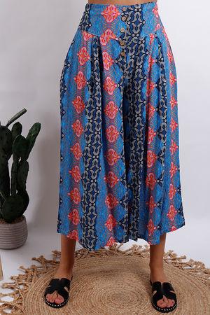 Cool Print Africa Culotte Blue