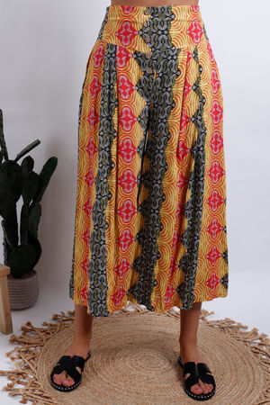 Cool Print Africa Culotte Yellow